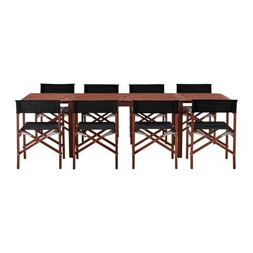 ikea pplar siar table 8 chaises ext rieur trou au milieu du plateau de table pour. Black Bedroom Furniture Sets. Home Design Ideas