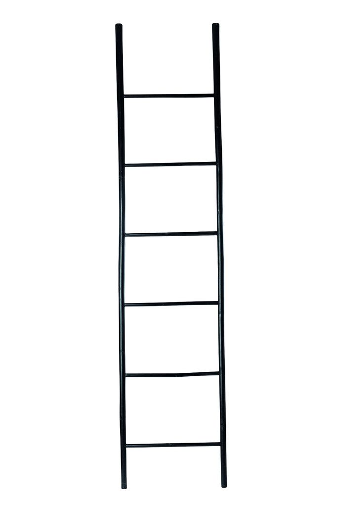 Black Bamboo Decorative Ladder