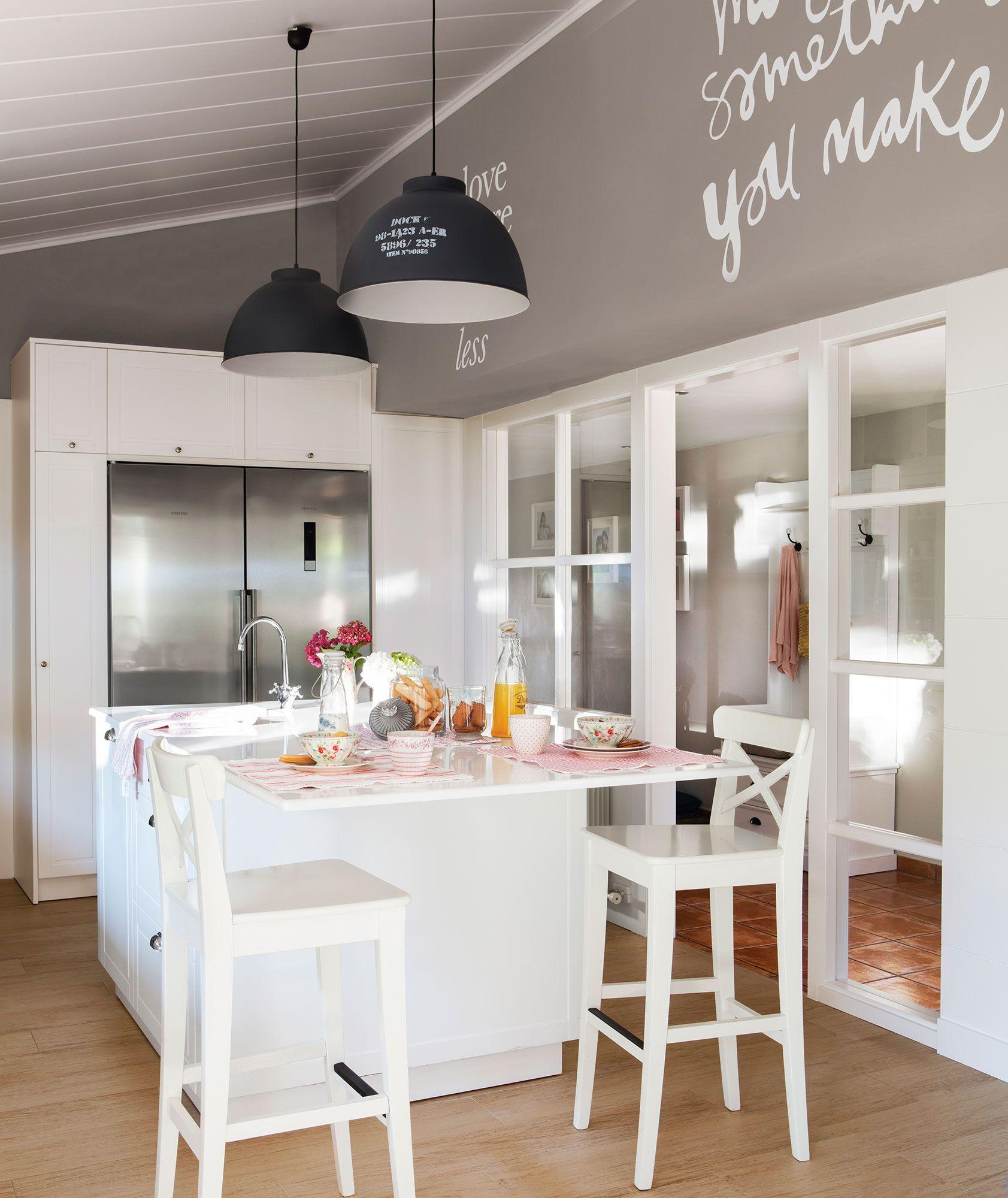 Tres cocinas blancas: un color, tres estilos distintos | Paredes ...