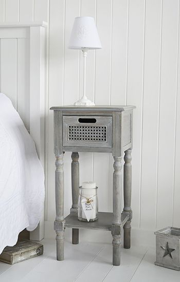 British colonial furniture bedside table with shelf and - White colonial bedroom furniture ...