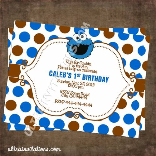 Cookie monster dots blue personalized invitation dylan pinterest cookie monster dots blue personalized invitation dots c filmwisefo Gallery