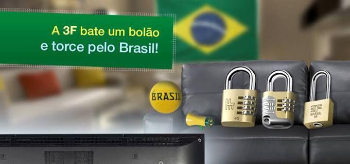 Torcida 3F pelo Brasil, na Copa das Confederações - 2013