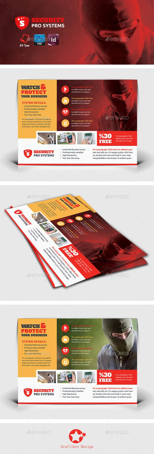 Security Systems Flyer Template Psd