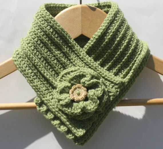 Free Crochet Cowl Neck Patterns With Buttons Crochet Neck Warmer