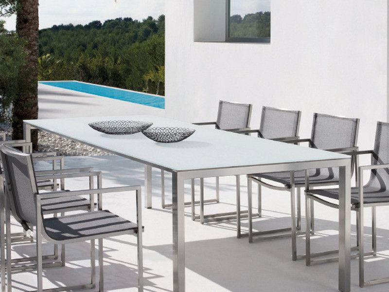 TRENTO rectangular by MANUTTI  Available at all of Michael Taylor Design's Showrooms!