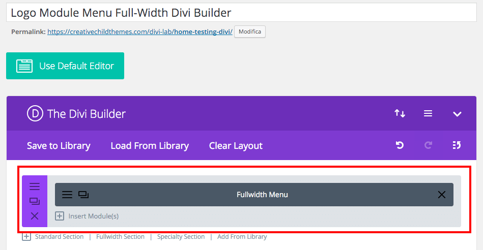 How do I add my logo in the Fullwidth Menu module Divi