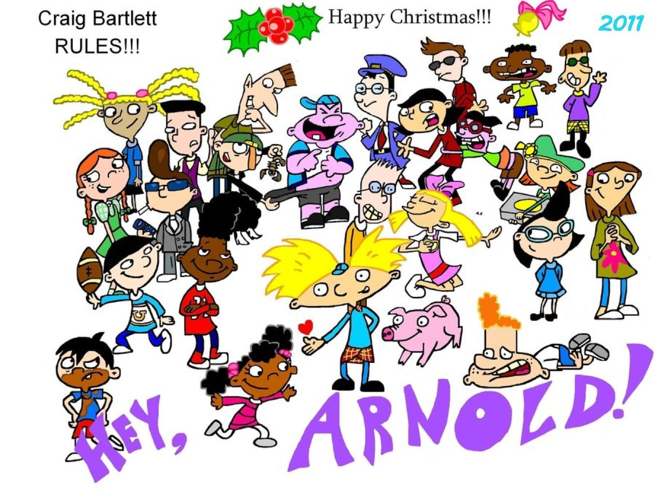 hey arnold characters - 900×675