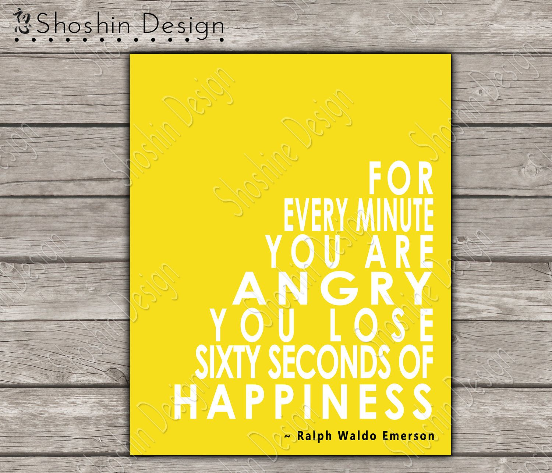 PRINTABLE Happiness Quote Wall Art - Printable Wall Art - Custom ...