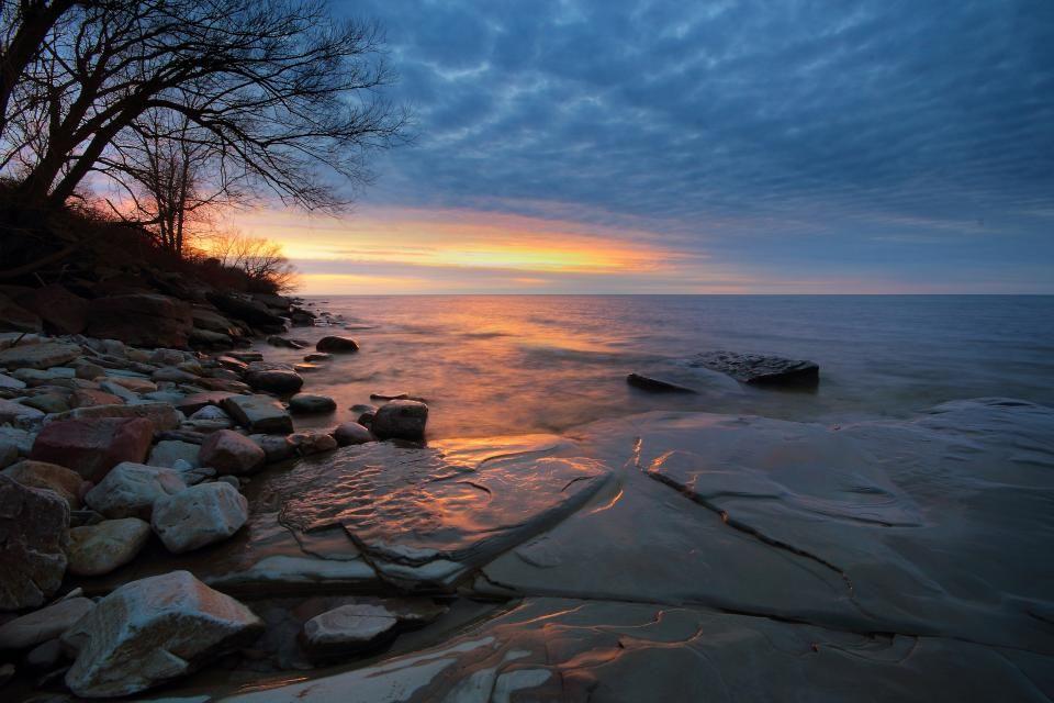 Lake ontario after sunset lake ontario lake sunset
