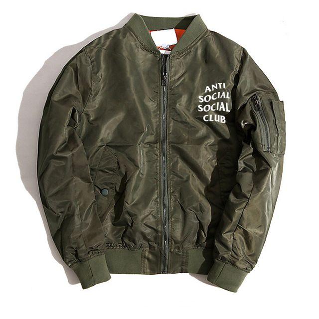 Anti Social Social Club Bomber Jacket Kanye West Yeezy Kanye West Outfits Hoodies Men Bomber Jacket