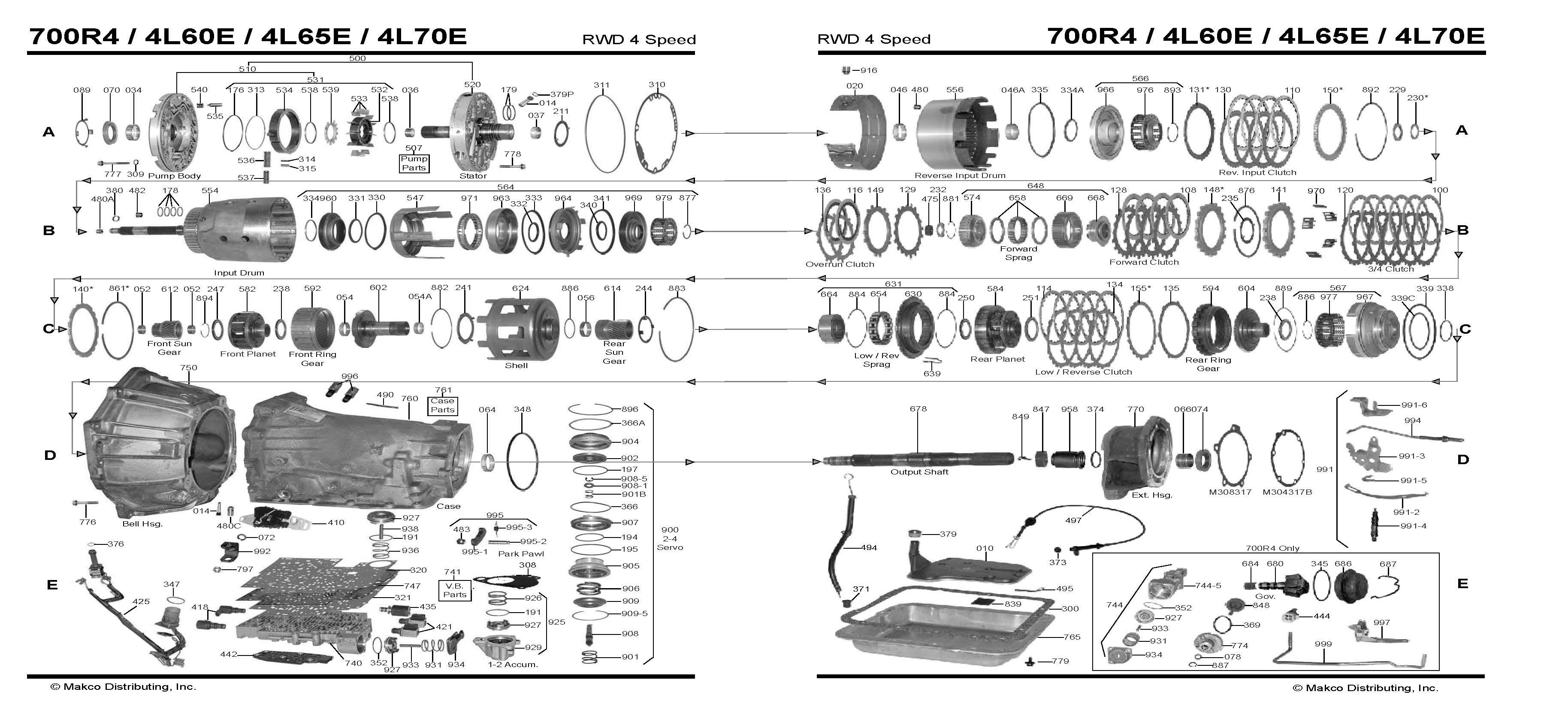 700r4 4x4 transmission diagram mallory ignition wiring 4l60e auto trans chart