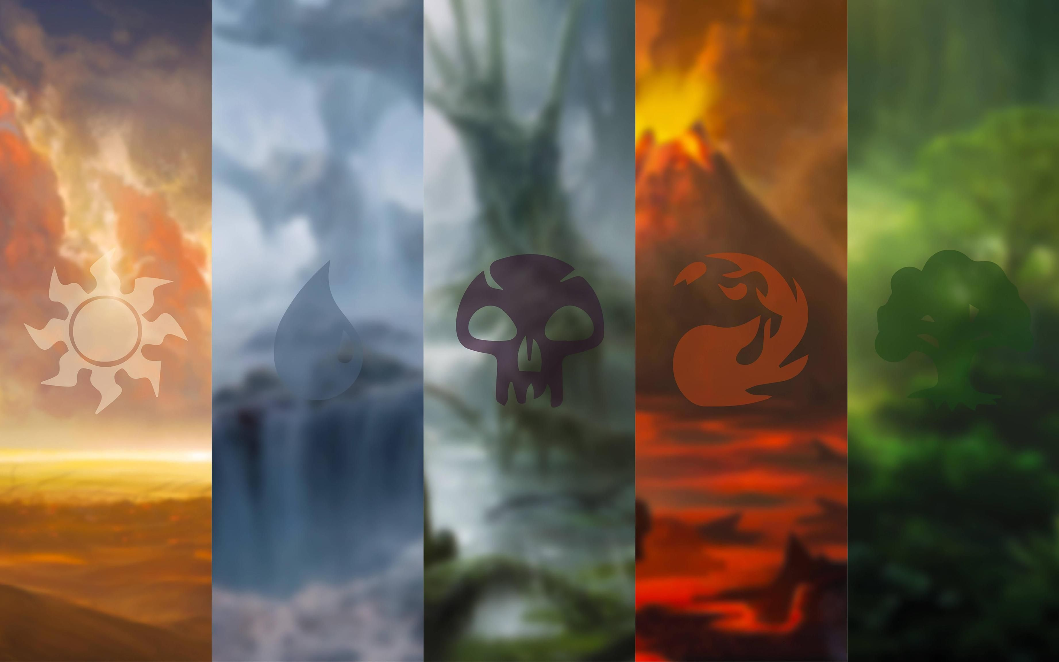 Made a Magic The Gathering wallpaper last night..