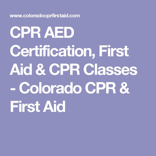 cpr aid colorado classes
