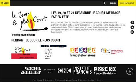 Les 19, 20 & 21 Décembre 2014 – Le court métrage est en fête – Jour le plus Court  