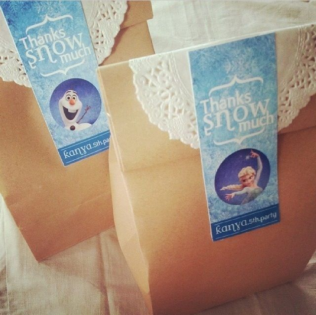 Vintage But Cute Halloween Frozen Olaf Treat Bags For Kids 2014