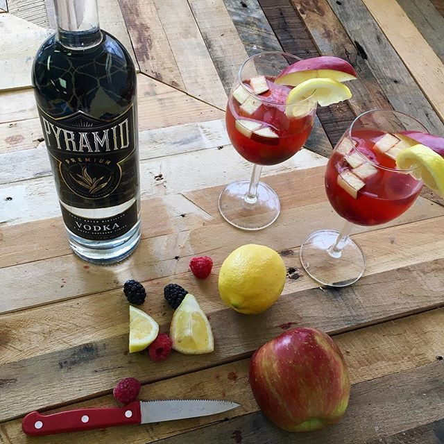Happy National Wine Day - Combine Pyramid Vodka, fruit, and your favorite wine for a sangria with a little added punch. Cheers! #nationalwineday