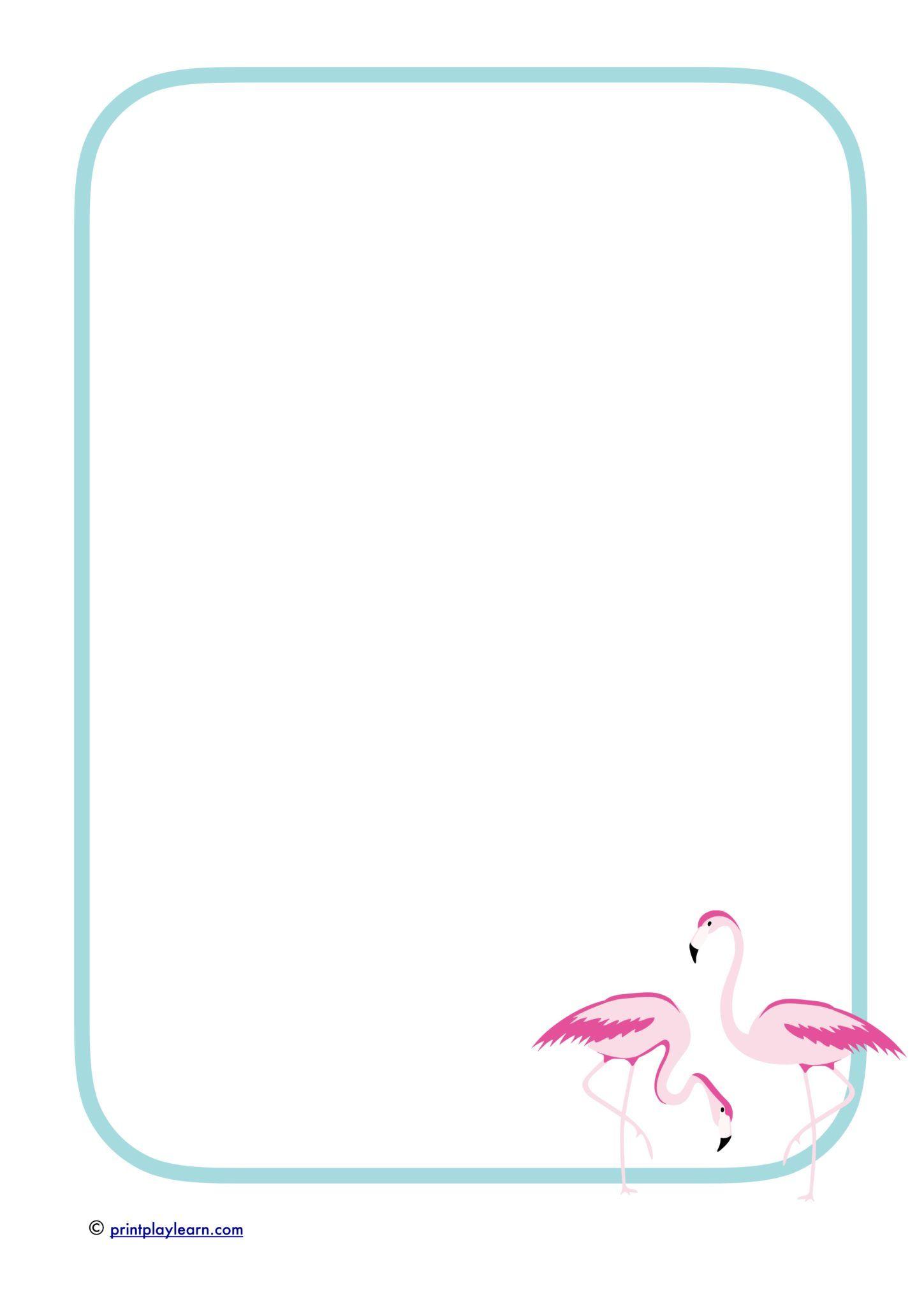 flamingo writing paper - free teaching resources