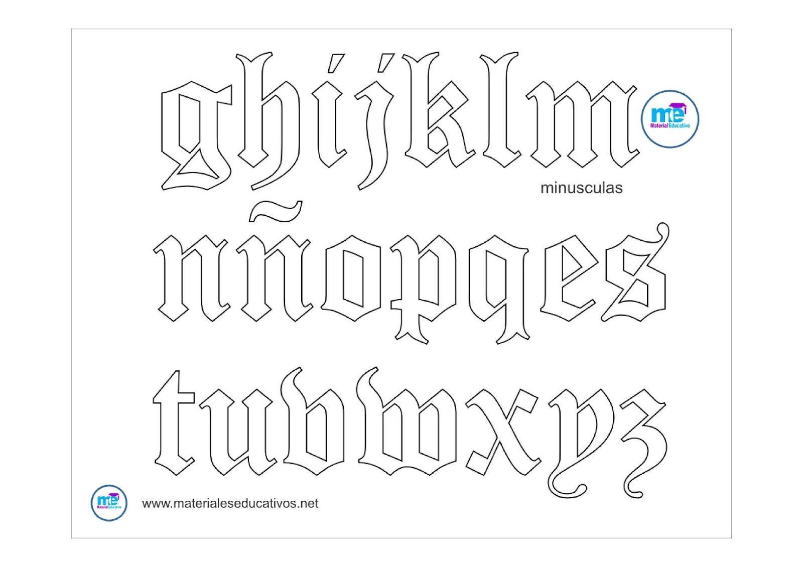 Moldes Plantillas Letras Goticas Words Math Word Search Puzzle