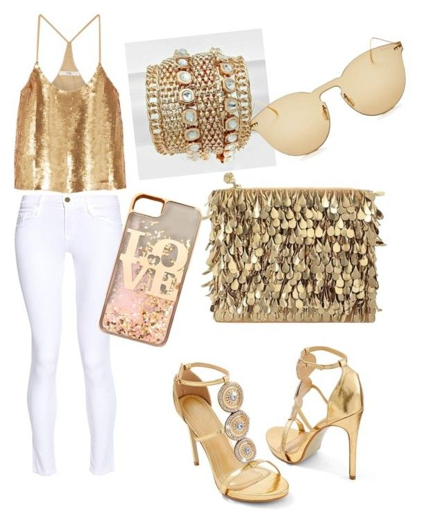 """""""Golden age"""" by thejewelrylady on Polyvore featuring Venus, Forest of Chintz, TIBI, Frame, claire's and Illesteva"""