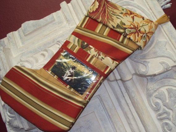 Photo Christmas Stocking Tropical design  by Niriahsattic on Etsy, $36.00