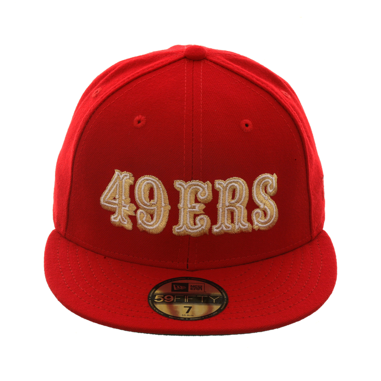 Exclusive New Era 59Fifty 49ers 72 Logo Hat - Red bb4db541225f