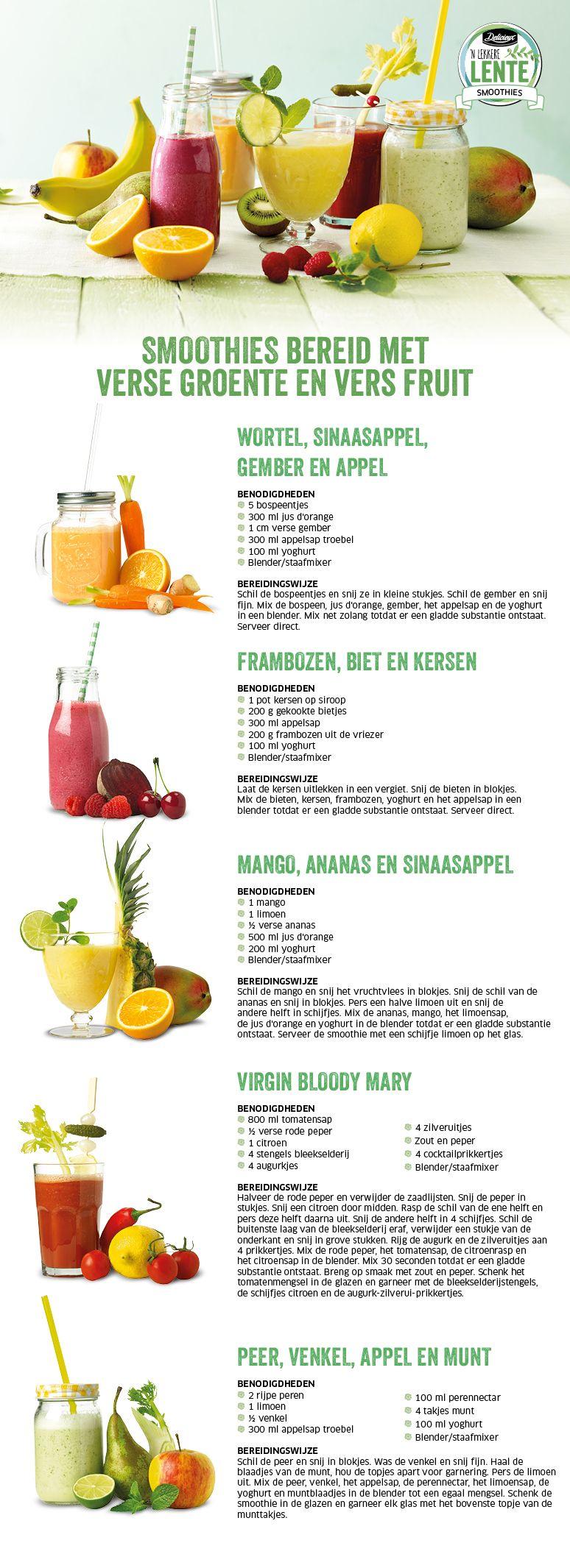 Smoothies bereid met verse groente en vers fruit - Lidl Nederland