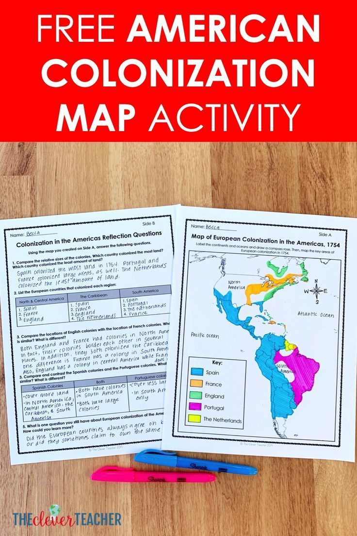 Photo of Free American Colonization Map Lesson