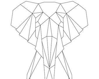 Elephant string art string art pinterest string art templates elephant string art template maxwellsz