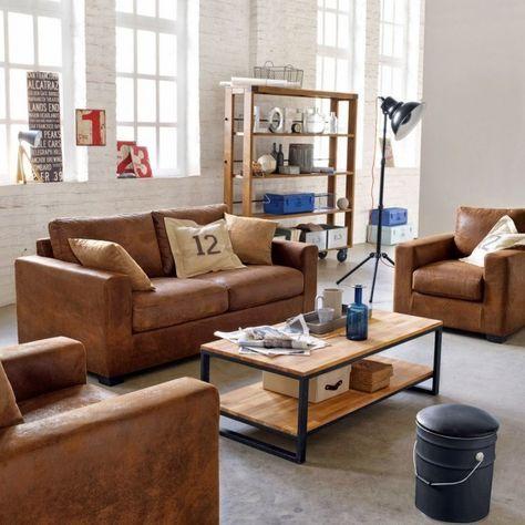 D corer un salon dans le style industriel idee deco salon style industriel canap style - Decorer un salon ...