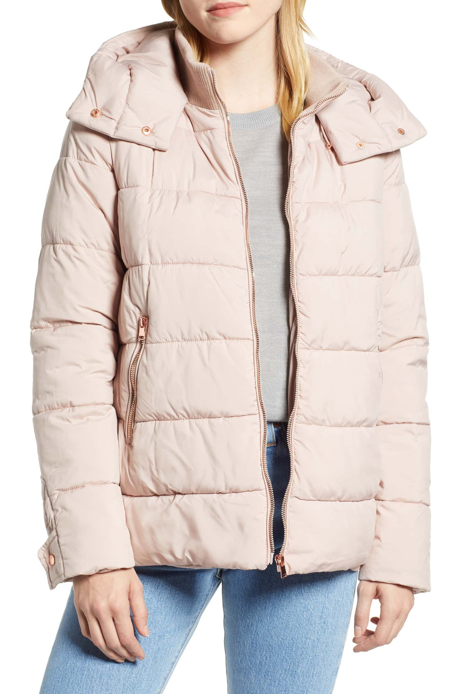 Halogen Hooded Puffer Jacket Nordstrom Puffer Jacket Women Puffer Jackets Coats Jackets Women [ 2392 x 1560 Pixel ]
