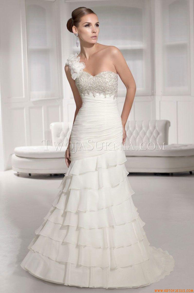 One strap wedding dress  Pin by liu dehua on girl  Pinterest  Wedding dress Elegant