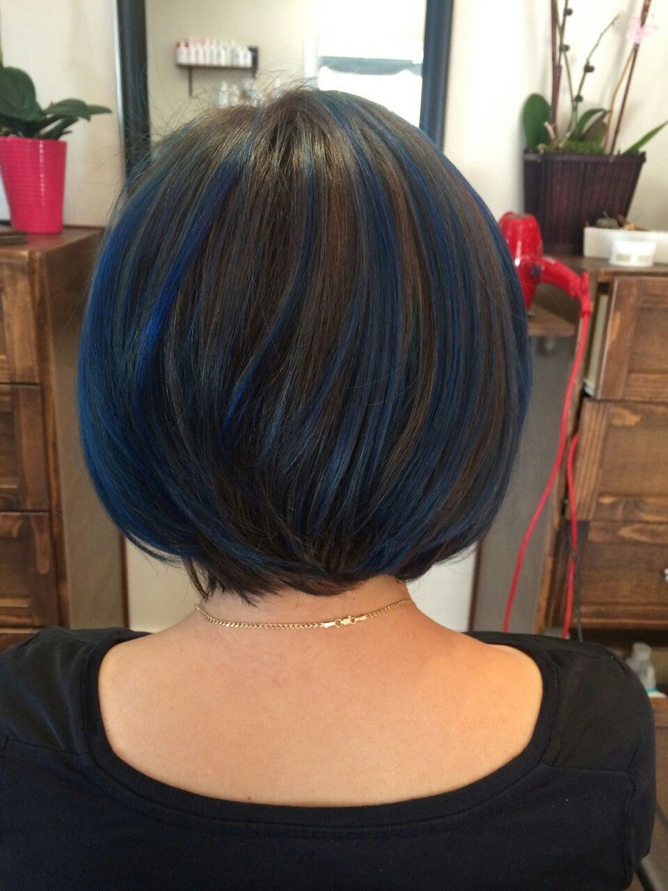 80 Pretty And Attractive Blue Hair Style Page 17 Of 21 In 2020 Hair Color For Black Hair Blue Hair Highlights Midnight Blue Hair