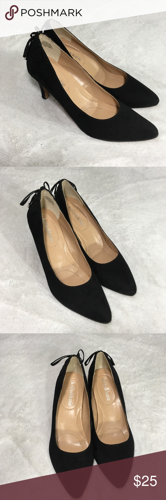 Elegant black heels size 6.5