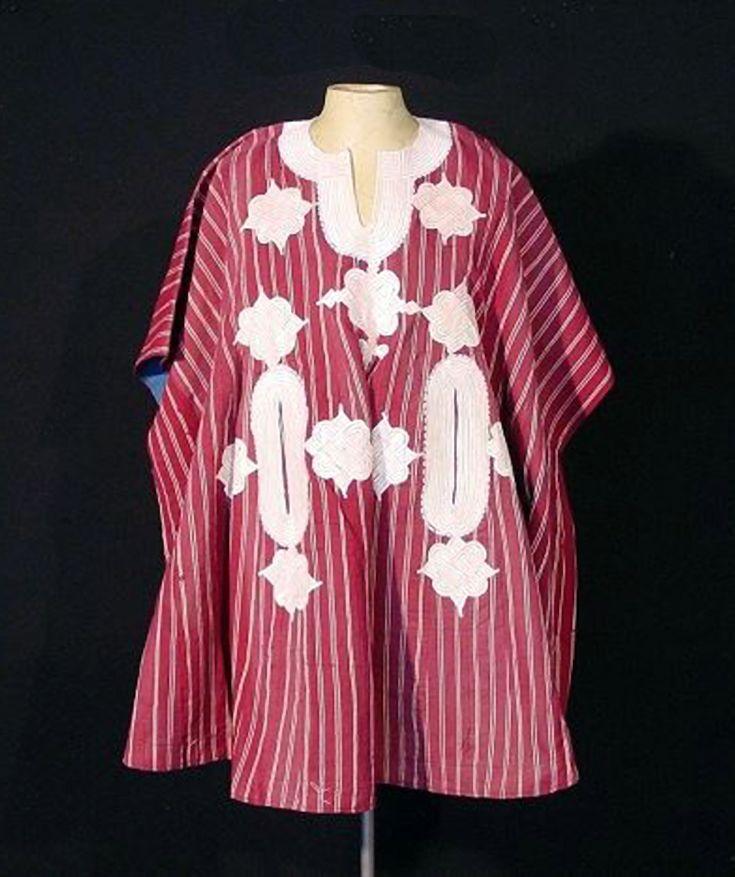 Africa | \'Agbada\' tunic from the Yoruba men of Nigeria | Cotton ...