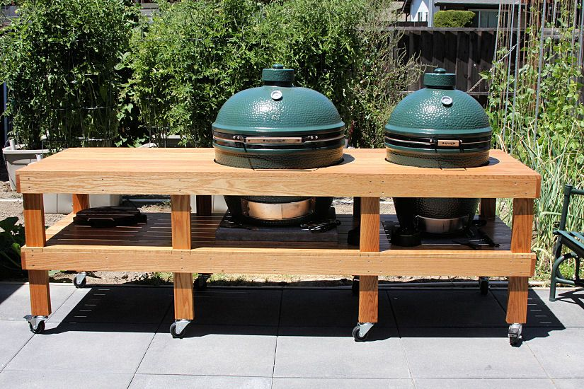Big Green Egg Double Table Big Green Egg Table Ceramic Cooker