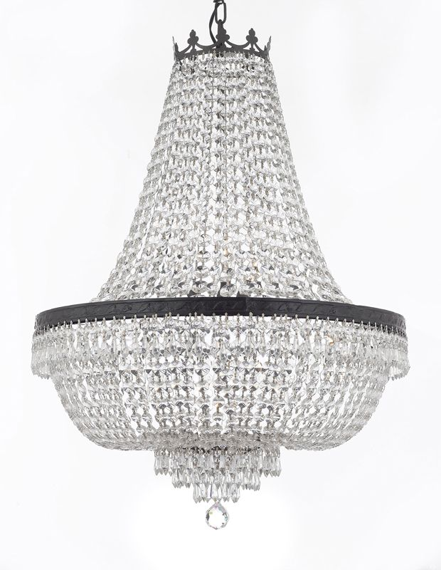 F93 Cb 870 9 Gallery Empire Style French Crystal Chandelier Chandeliers Lighting