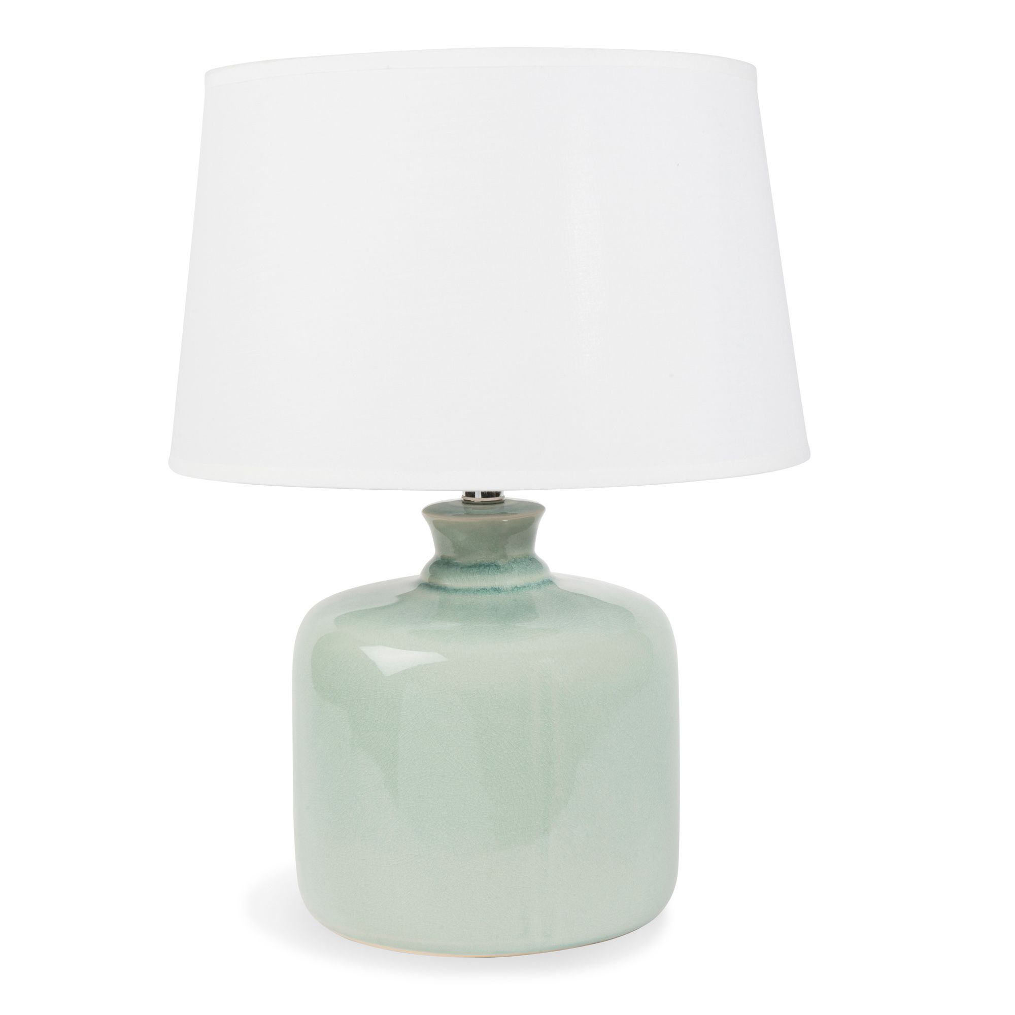 L mpara de cer mica verde h 40 cm orangerie maisons du for Maison du monde lamparas de mesa