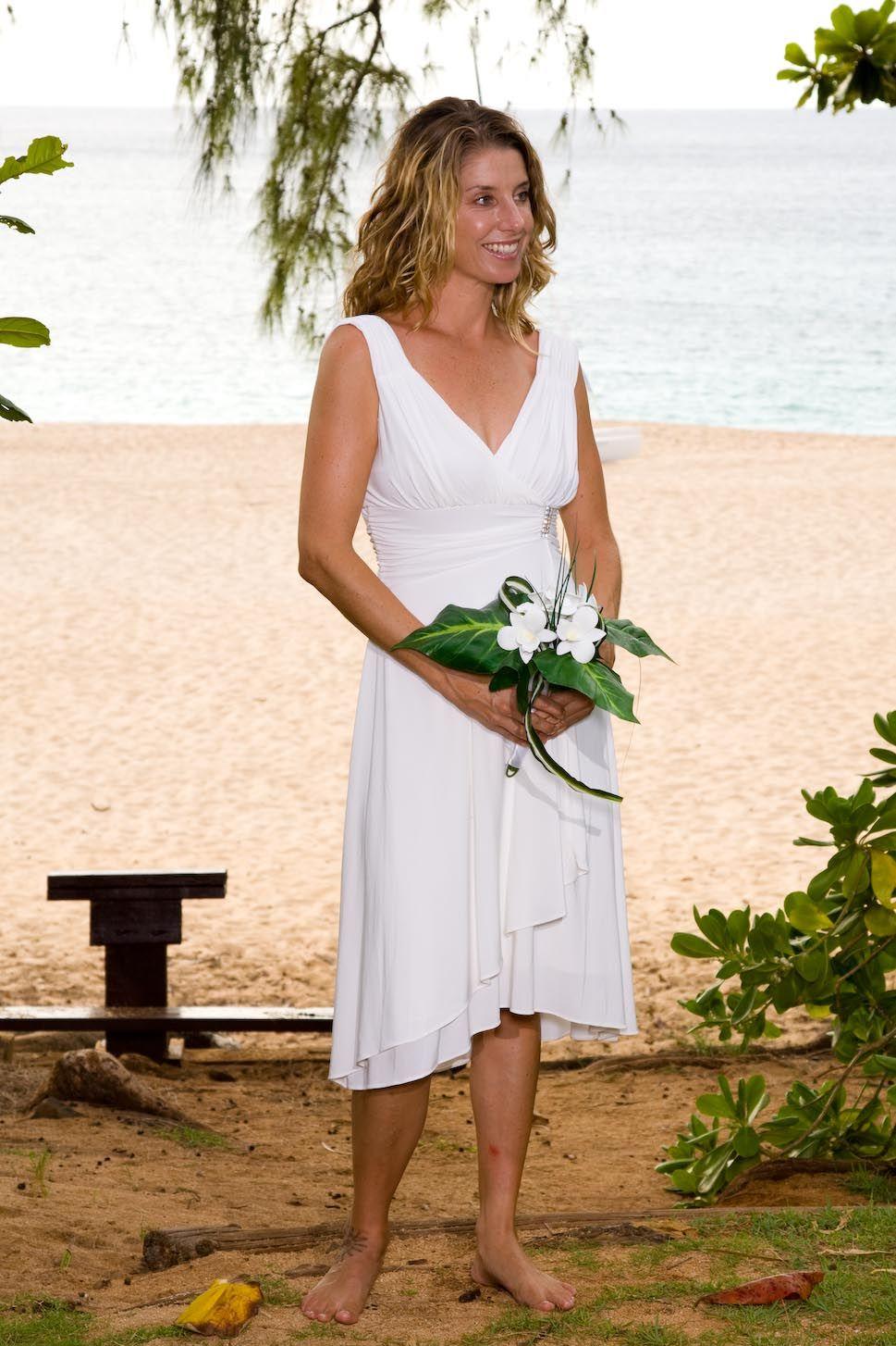 short wedding dress Chiffon wedding dress beach, Casual