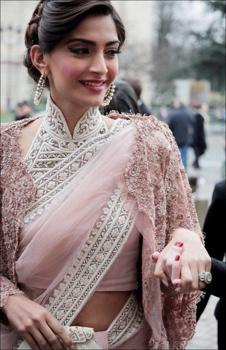 high neck blouse designs - trending 21 high neck designs in 2017