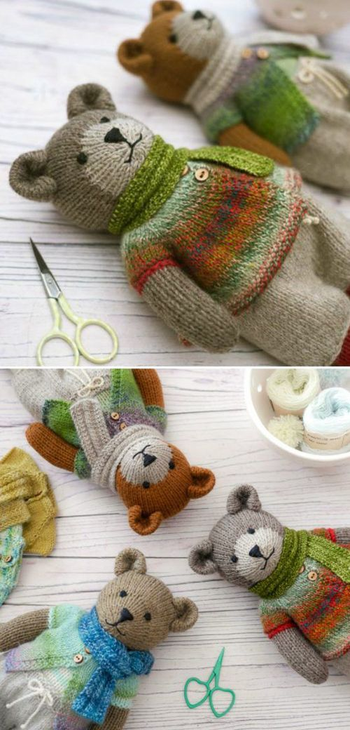 Photo of Knitted Teddy Bear – Knitting Pattern