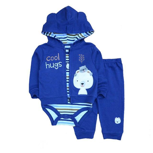 641c13430 New Baby Boy Clothing Set 3pcs Suits Coat Bodysuit Pants Cotton Long Sleeve Winter  Newborn Baby Girls Clothes Sets