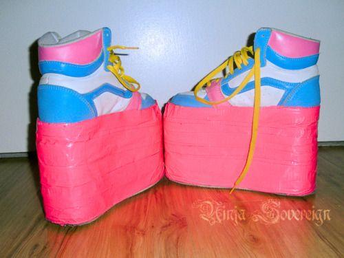 Tumblr Lx5wcl97ub1qaotamo1 500 Jpg 500 375 Rave Shoes Platform Shoes Sandals Diy Sneakers
