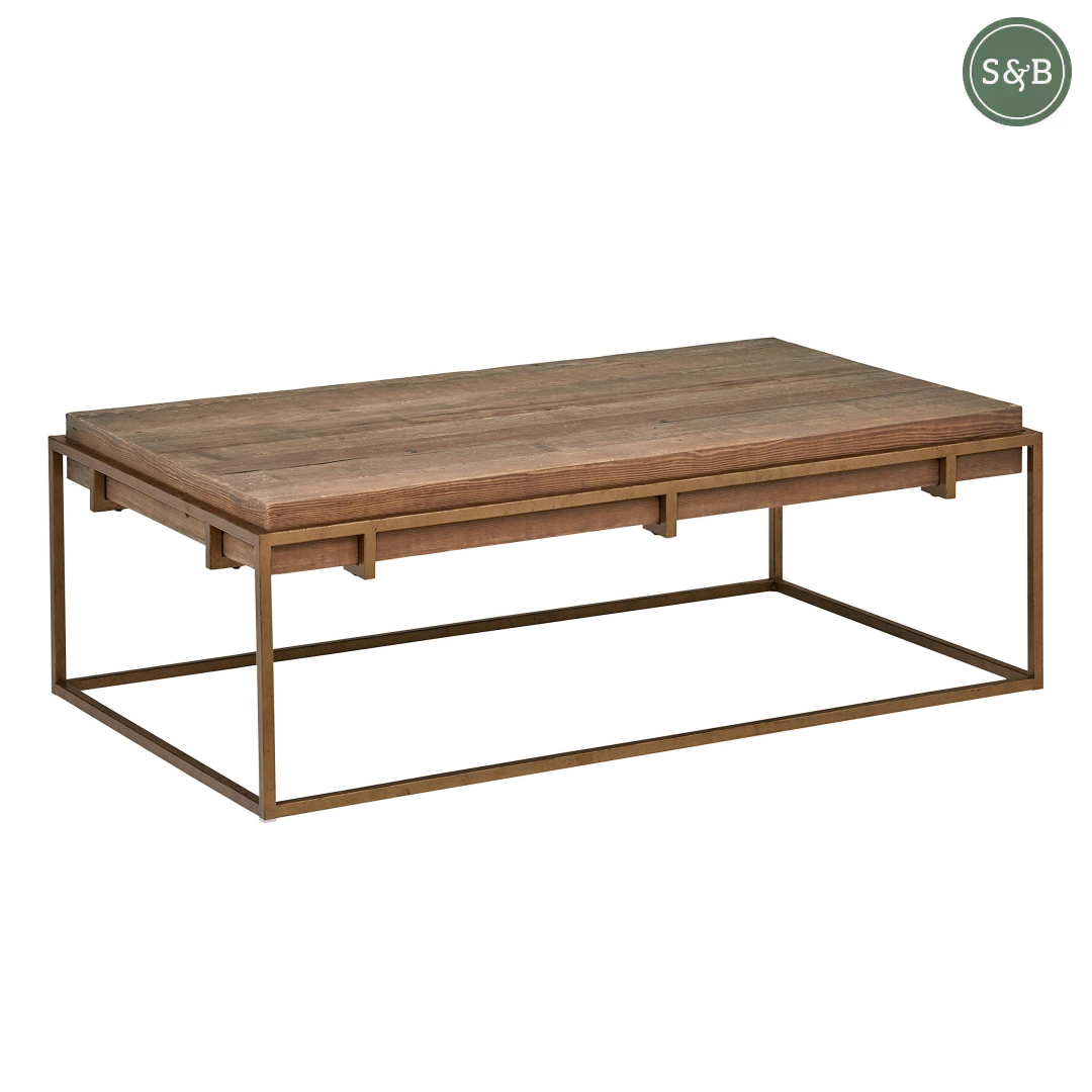 Add Some Farmhouse Charm To Your Living Room With This Modern Industrial Coffee Table By Am Modern Industrial Coffee Table Coffee Table Industrial Coffee Table