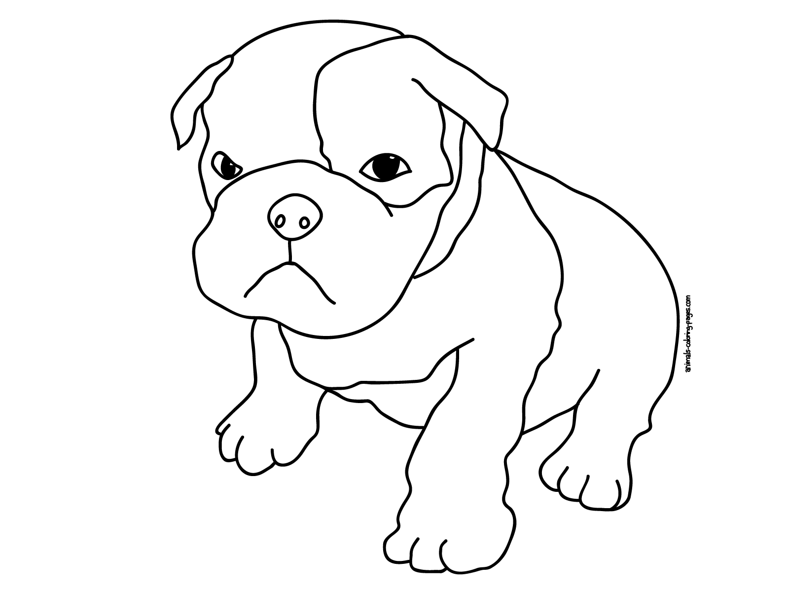 Cute Animal Coloring Pages to Print | Coloring page of a boxer puppy ...