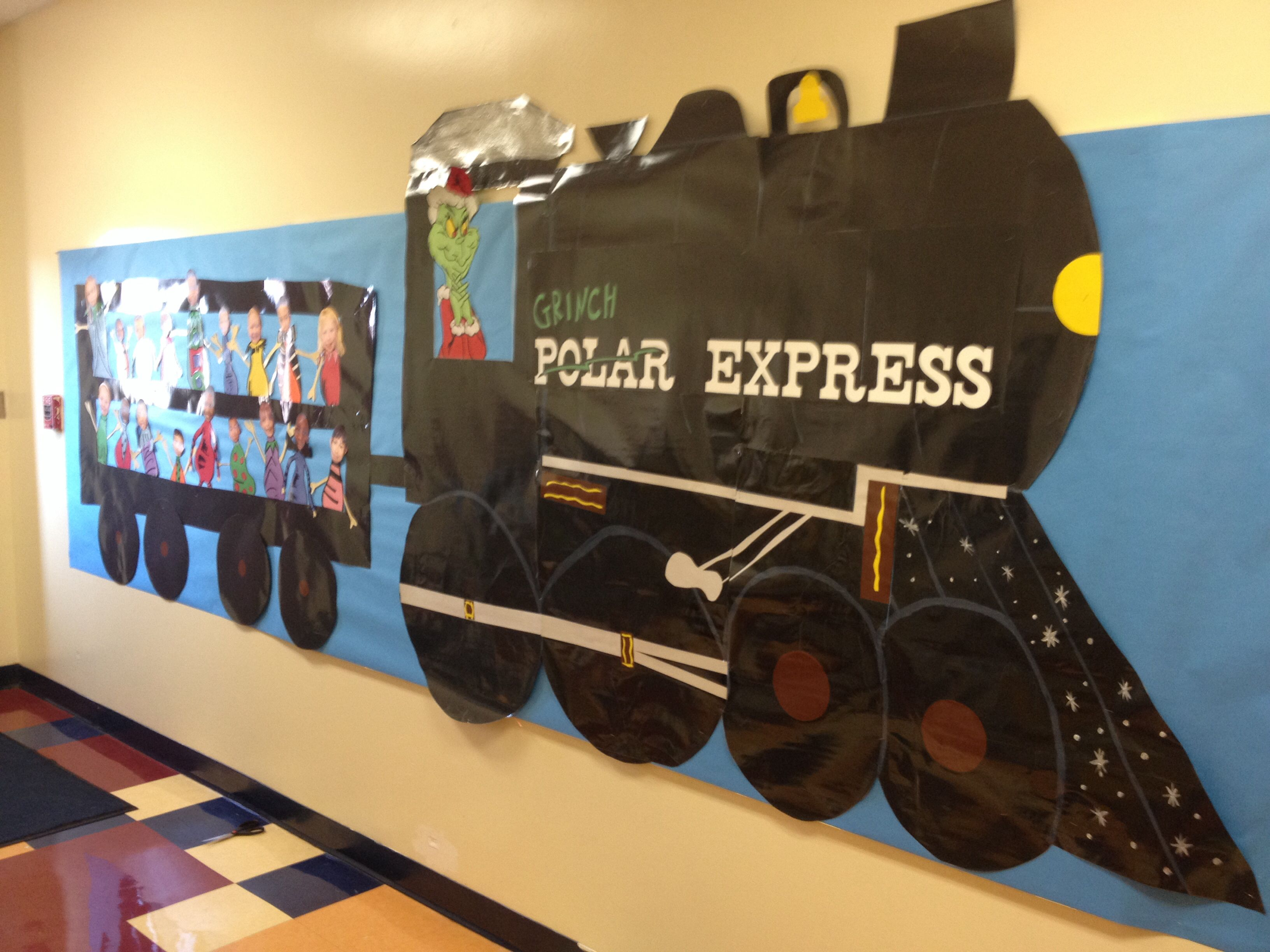 Grinch Polar Express Bulletin Board With Images