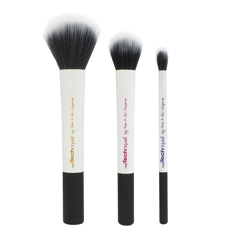 Real Techniques 3-pc. Limited Edition Duo-Fiber Collection Makeup Brush Set, Multicolor