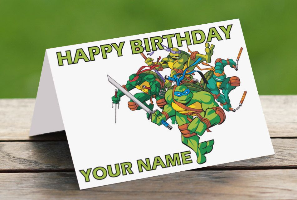 Teenage Mutant Ninja Turtles Printable Birthday Cards | Projects to ...
