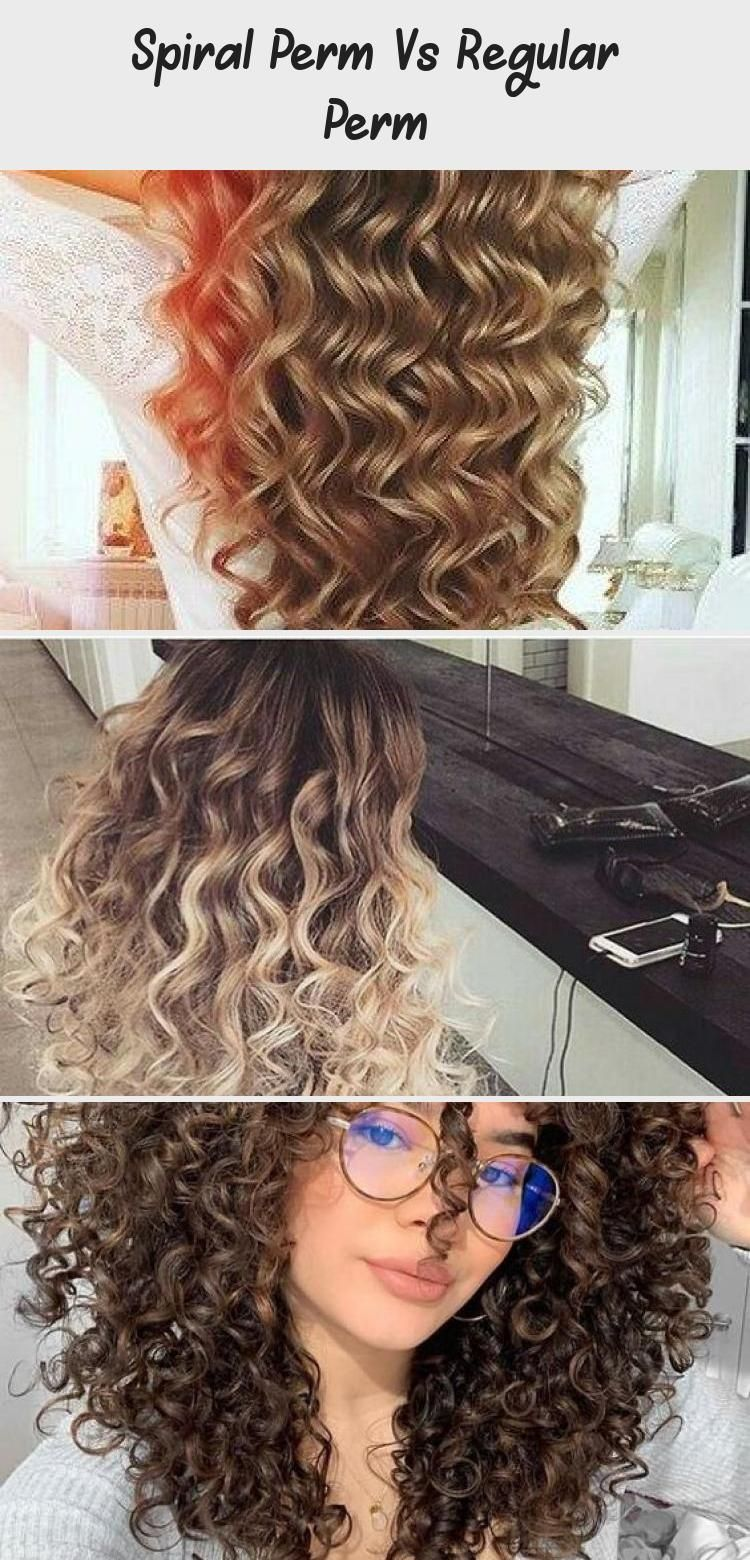 Spiral Perm Vs Regular Perm In 2020 Spiral Perm Curly Hair Styles Curly Hair Styles Naturally