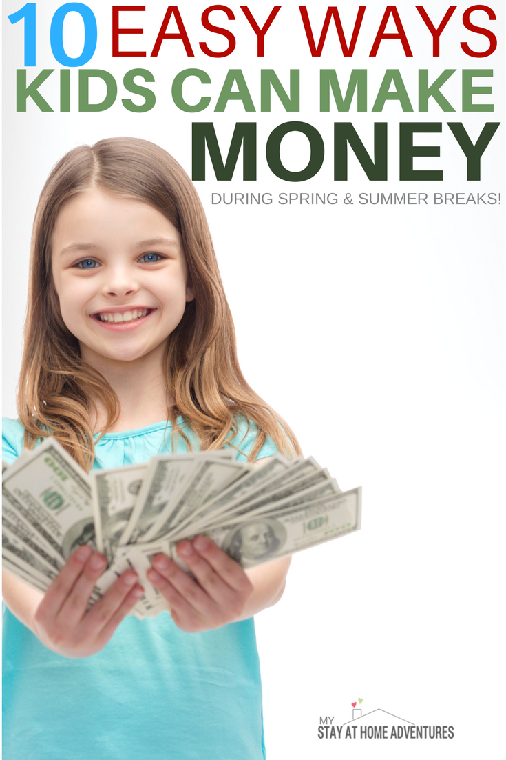 how to make money over the summer for kids