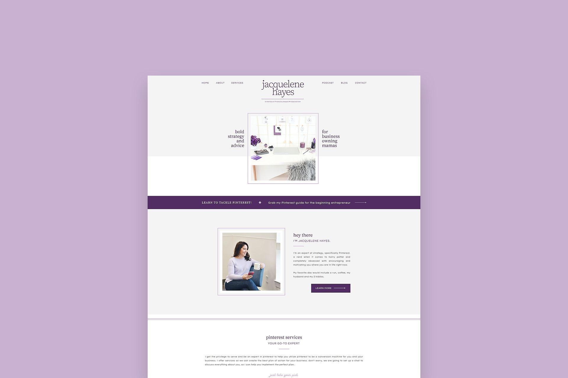 Showit Website Design Podcast Website Design Podcast Design Jacquelene Hayes Website Design P Feminine Website Design Design Podcast Web Development Design